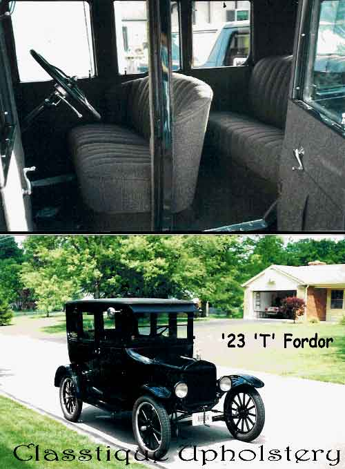 Model T Upholstery From Casstique Upholstery Ford Model